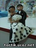 Свадебные Фигурки из марципана и мастики